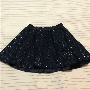 Gap navy sequin skirt
